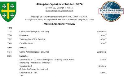 Meeting – 4th May 2016